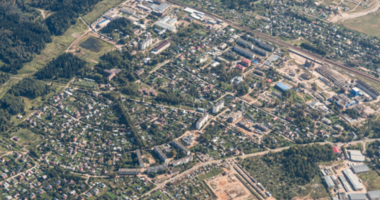 aerial view from aeroplane