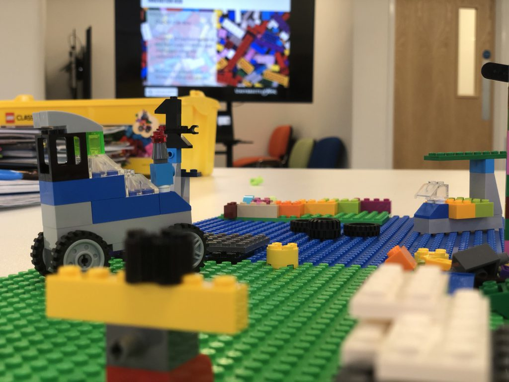 3D model for vision facilitation technique made from Lego