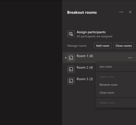 Breakout Rooms Microsoft Teams